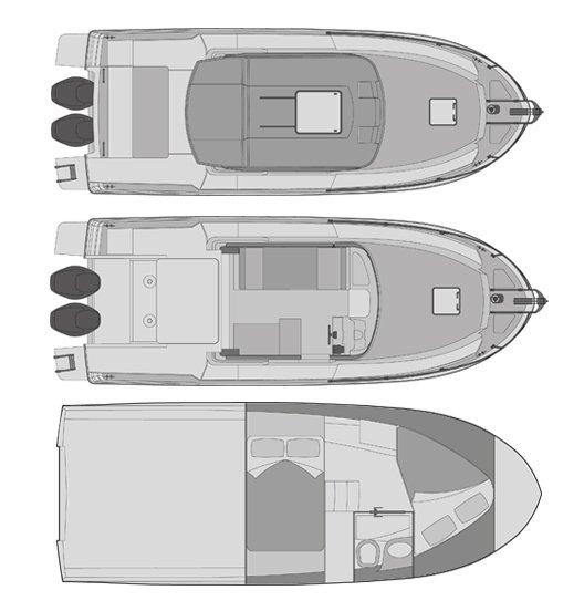 Rodman Fisher & Cruiser 890 Ventura Plano