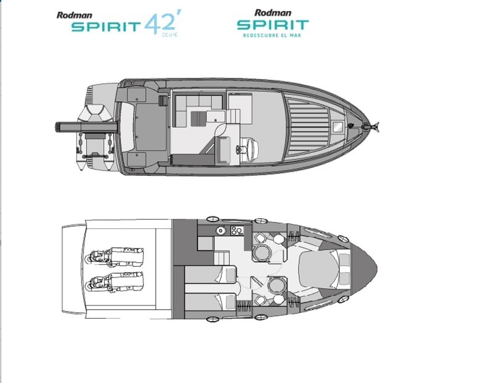 Esquema Spirit 42 Coupe
